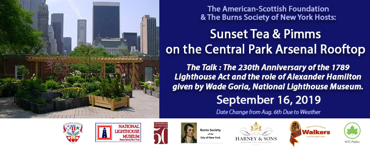 American-Scottish Foundation hosts Sunset Tea and Pimms on the Central Park Arsenal Rooftop