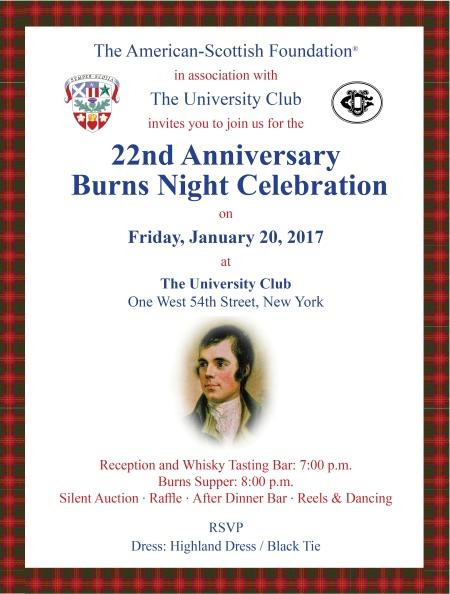 Events Burns Night Gala Celebration 2016