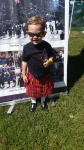 One of our youngest walkers at last year's Tartan Day Parade was dressed to impress at this year's Westbury Highland Games.  Can't wait to see what he wears to this year's parade!  Isn't he handsome?!