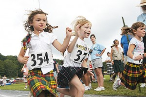 children at highland games