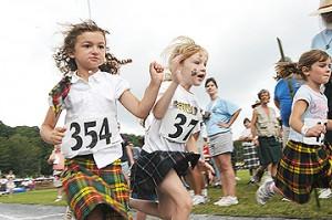 children at highland games