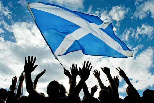st-andrews-day-saltire-waving