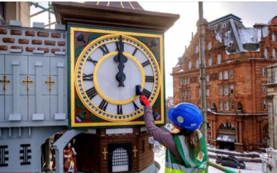 Binns Clock restoration, Edinburgh